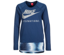 INTERNATIONALIST Langarmshirt coastal blue