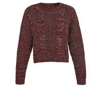 Fisherman´s Strickpullover maroon