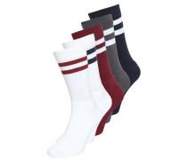 Socken grey/bordeaux/white