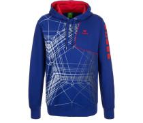 Sweatshirt indigo blue/red
