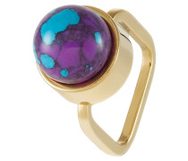 Ring - gold-coloured/purple