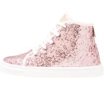 Sneaker high glitter rose/coral
