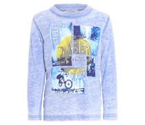 Langarmshirt bleu électrique