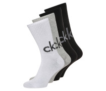 4 PACK Socken black/white/oxford heather