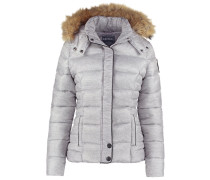 SINKO Winterjacke light grey melanged