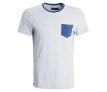 TShirt print mottled light blue