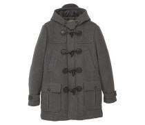 JAMIE Wollmantel / klassischer Mantel dark heather grey