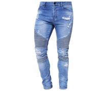 Jeans Slim Fit distressed light blue