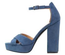 Plateausandalette blue