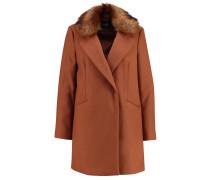 Wollmantel / klassischer Mantel - rust