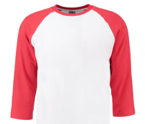 Langarmshirt white/red