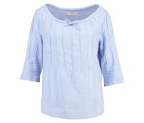 TEKLA Bluse clear blue