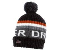 Mütze black/burnt orange