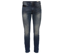 Jeans Slim Fit dirty destroyed vintage stone wash