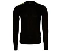 STRIPE CREW Langarmshirt black