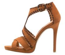 High Heel Sandaletten brown