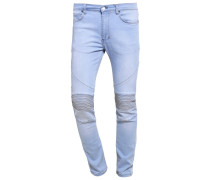 CRYPT Jeans Slim Fit stone wash 80s blue