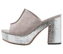 ERICA Pantolette hoch light grey/silver