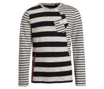 Langarmshirt gris chiné moyen