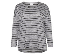 Langarmshirt medium grey melange
