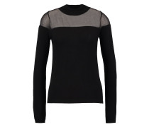 SHEER - Strickpullover - black