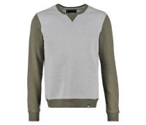 Sweatshirt grey melange/olive