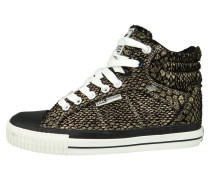 DEE Sneaker high black gold snake