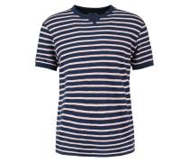 T-Shirt print - navy/pink
