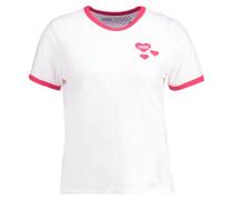 HEARTS - T-Shirt print - white/tomato