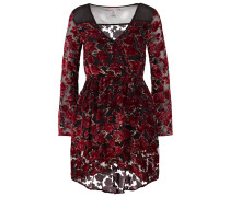 Freizeitkleid black/red