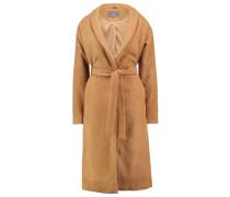 SEBRI Wollmantel / klassischer Mantel tobacco brown melange