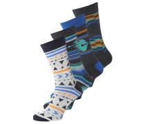 JJACMEXICAN VIBES 4 PACK Socken navy blazer
