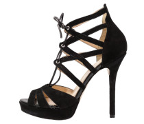 High Heel Sandaletten - nero