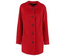 Wollmantel / klassischer Mantel purpur