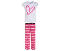 Pyjama white/pink