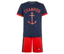 SET - T-Shirt print - blue/red