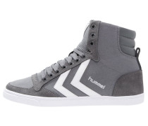 SLIMMER STADIL - Sneaker high - castle rock/white