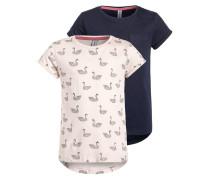 2 PACK TShirt print pale pink/navy blazer