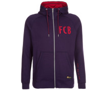 FC BARCELONA Sweatjacke purple lady/gym red