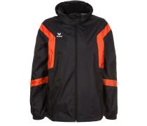CLASSIC TEAM Regenjacke / wasserabweisende Jacke schwarz/orange