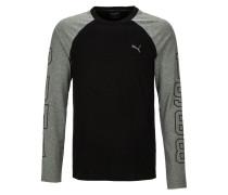 Langarmshirt cotton black/med grey