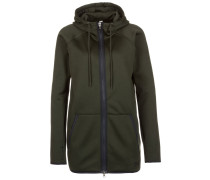 Sweatjacke artillery green/black