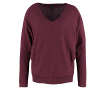 DOLLIE Strickpullover dark plum melange