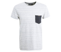 T-Shirt print - grey/white