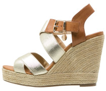 High Heel Sandaletten gold