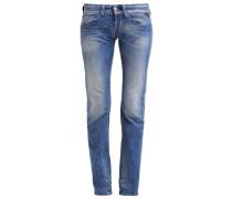 NEW SWENFANI Jeans Straight Leg mid blue denim