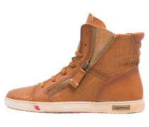 JOMAR Sneaker high cognac