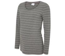 Langarmshirt medium grey melange