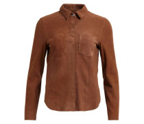 Hemdbluse - leather cognac
