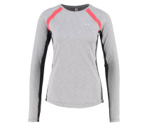 Sweatshirt - true gray heather/pomegranate/metallic silver